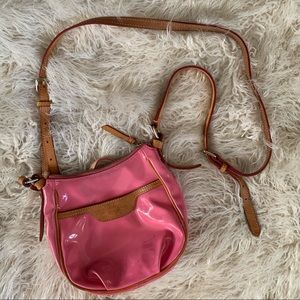 Dooney & Bourke Pink Bag With Leather Details
